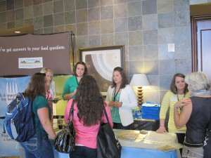 Ross and Kontz met with a steady stream of interested bloggers over the course of the two-day event.