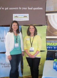 CommonGround volunteers Sara Ross (left) and Morgan Kontz (right) share their story of farming. Do you?