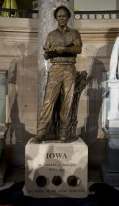 Norman Borlaug is the new guy in Statuary Hall at the Capitol.