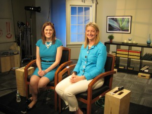 Kristie Swenson, left, recently talked food and farming during a media tour in New York City.